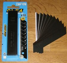 OLFA Black Excel LBB-10B Heavy Duty 18mm Snap Off Cutter Blades -10, 20, 50, 100