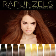 Clip in hair extensions 100 grams full head Rapunzels human remy hair