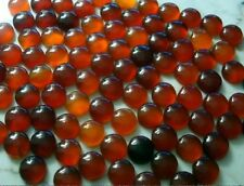 Four 12mm round carnelian agate domed cabochon flat backed gem gemstones cb027