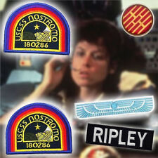 ALIEN / ALIENS Nostromo Officer Patch Set (RIPLEY) 4 Jacket Patches +  Badge NEW