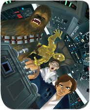 Leia Chewbacca Han Solo C3PO Never Tell Me The Odds! Star Wars Giclée on Paper