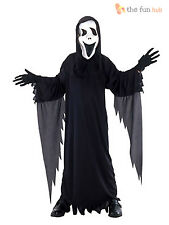 Boys Howling Scream Ghost Costume Childrens Halloween Party Fancy Dress Kids