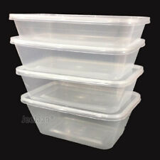 Food Containers Plastic Tubs Clear With Lids Microwave Safe Takeaway [All Sizes]