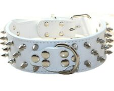 "2"" Large Breed Spiked Studded Leather Dog Collar Lead Pit Bull Mastiff Cathro"