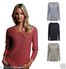 Womans ladies winter party evening glitter shimmer sweater top jumper size 14-26
