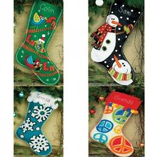 Felt Applique Christmas Stocking Kit In 4 Designs