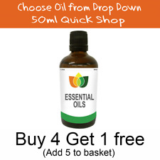 50ml Essential Oil - 100% Pure & Natural - Choose Fragrance - (Aromatherapy)