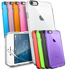 CRYSTAL SERIES HARD BACK CASE FOR APPLE IPHONE MODELS & SCREEN PROTECTOR
