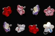 New Surgical Steel Novelty Flower Prism Dermal Anchor Head Top Choose Colour 14g