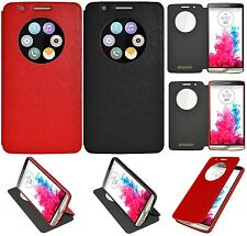 Amzer Flip Case Folio Wallet Cover With Quick Circle View For LG G3 D855 D850