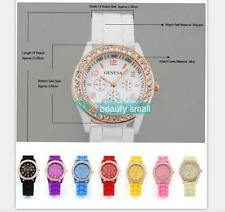 WOMENS QUARTZ WRIST WATCH FASHION GENEVA JELLY SILICONE NEW CRYSTAL LADIES KIDS