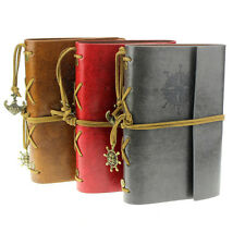 Vintage Style Leather Cover Notebook Journal Diary Blank String Nautical Hoc