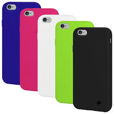 """Apple iPhone 6+ 6s Plus 5.5""""- AMZER Soft Silicone Skin Jelly Case Back Gel Cover"""