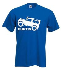 LANDROVER T-SHIRT PERSONALISED LAND ROVER TSHIRT WITH NAME SIZES S-XXL