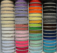 Cotton Lace Ribbon - 10mm - Craft - Vintage Rustic Wedding - Scrapbook Craft Sew