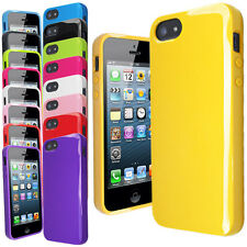 New Glossy Solid Silicone Gel Case Cover FOR Apple iPhone 5S 5G