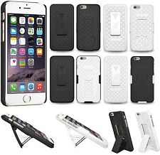 """Amzer Shell Hard Kickstand Case w/ Belt Clip Holster For iPhone 6 Plus 5.5"""" Inch"""