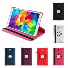 """SAMSUNG GALAXY TAB S 8.4"""" VARIOUS COLOUR PU LEATHER 360 DEGREE ROTATE CASE COVER"""