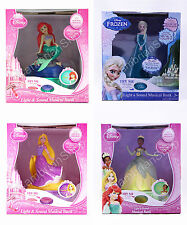 Disney Princess Light Musical Money Bank Box Ariel Frozen Elsa Rapunzel Tiana