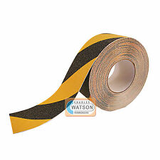 Yellow/Black ANTI SLIP TAPE High Grip Adhesive Backed Non Slip Safety Flooring