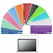 "Silicone Keyboard Skin Cover Screen Guard Film For Apple Macbook Pro 13"" A1278"