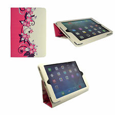 APPLE IPAD MINI AND IPAD MINI 2 PINK AND CREAM FLOWER PU LEATHER CASE COVER