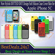 New Stylish DOTTED DOT Design Soft Silicon Case Cover Skin for Apple iPhone 5C