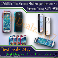 0.7MM Ultra Thin Aluminum Metal Bumper Case Cover For Samsung Galaxy S4 IV i9500