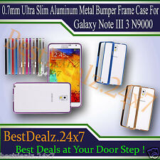 0.7mm Ultra Slim Aluminum Metal Bumper Frame Case For Galaxy Note III 3 N9000