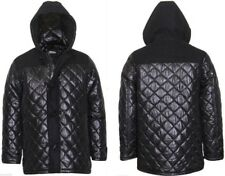 Mens hooded diamond Quilted duffle coat Jacket  Clearance Sale
