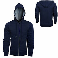 New Plain Mens Fleece Zip Up Hoody Hoodies Jacket Sweatshirt Hooded Zipper Top