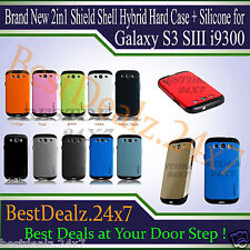 Brand New 2in1 Shield Shell Hybrid Hard Case + Silicone for Galaxy S3 SIII i9300