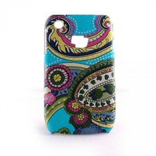 Coque rigide mate motif cachemire Blackberry 8520 Curve + film protection ecran