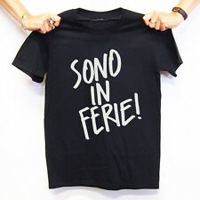 T-Shirt Sono In Ferie Glamour Regalo Fake Outfit Fashion Happiness T-Shirt Mania