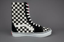 Vans Super Sk8-Hi 4846173065 Black White Checkerboard HiTop Skate Shoes Trainers