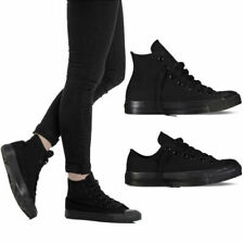 Scarpe uomo/donna TW sneakers in tela alta e bassa nero all black