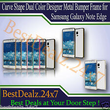Curve Shape Dual Color Designer Metal Bumper Frame for Samsung Galaxy Note Edge