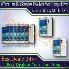 0.7mm Ultra Thin Screwless Two-Tone Metal Bumper Cover Samsung Galaxy Note Edge