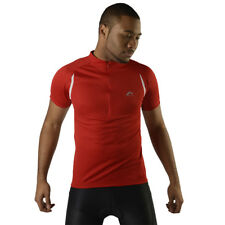 Mens More Mile Short Sleeve Red Reflective Logo Cycling Jersey Shirt Top Size