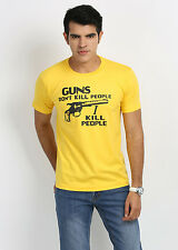 Stylish Guns Dont Kill People Round Neck T-Shirts