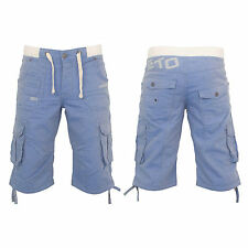 MENS NEW SHORTS ETO EMS532 CARGO COMBAT IN SKY BLUE COLOUR ALL SIZES 28 TO 42