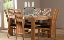 Clifton & Newark Oval Oak Dining Room Table and 4 6 Chairs Set (Black)