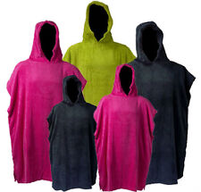 Changing Robe Adults & Kids Hooded Poncho Towelling Swimming Surfing Beach Pool
