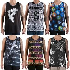 FAMOUS STARS AND STRAPS Canotta UOMO Tank NEW Mens BASKET Nuova JERSEY Varie 2