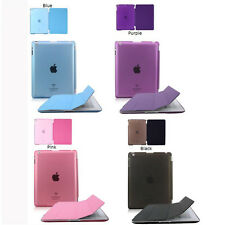 Magnetic Smart Case Cover+Ultra Slim Back Case Stand For APPLE iPad Air Mini USA
