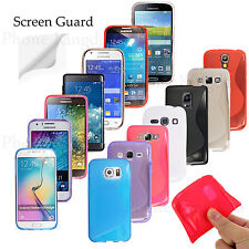 S-Line TPU Gel Silicone Case Cover For Samsung Galaxy Phones Free Screen Guard