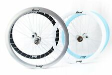 Fincci Single Speed Fixed Bike Bicycle Wheels 700c 45mm Pair Various Colours