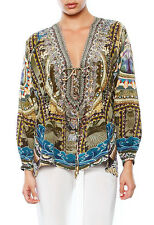 fee218422a9 new CAMILLA FRANKS SILK SWAROVSKI SEEDS OF ENLIGHTENMENT LACE UP TOP KAFTAN  layb