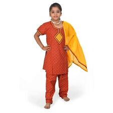 Rajasthani Bagru Design Girls Fashionable Cotton Salwar Suit Dress EIDLI4GED111C