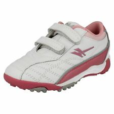 Girls Gola Start Rite White/Pink leather riptape  shoes GSR 1936   G FIT